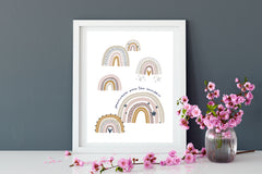 Special offer - trio of rainbow prints