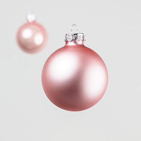 baubles - set of 10 - pink or white