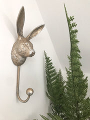 Handsome hare metal coat hook