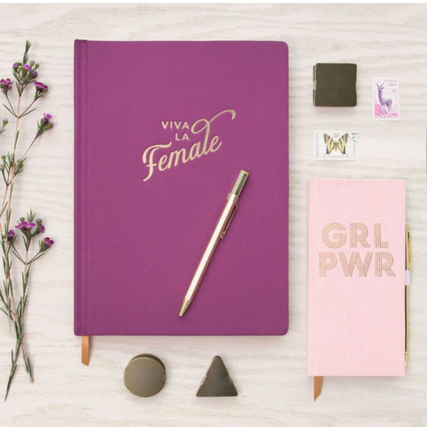 Viva la female - premium hand sewn notebook