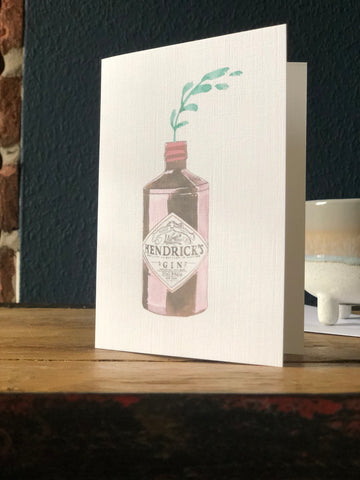 Hendricks gin watercolour card