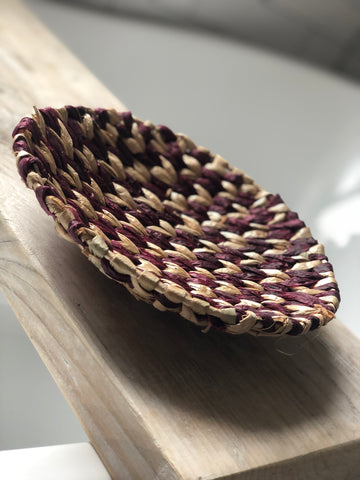 Seagrass bowl - plum