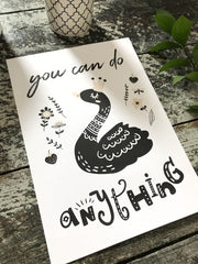 You can do anything Print  - whimsical collection