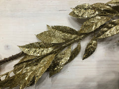 Super sparkly gold leaf garland