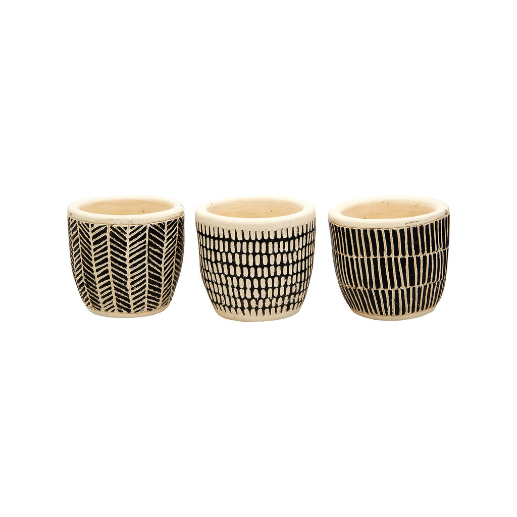 Scandi cement planters - set of 3