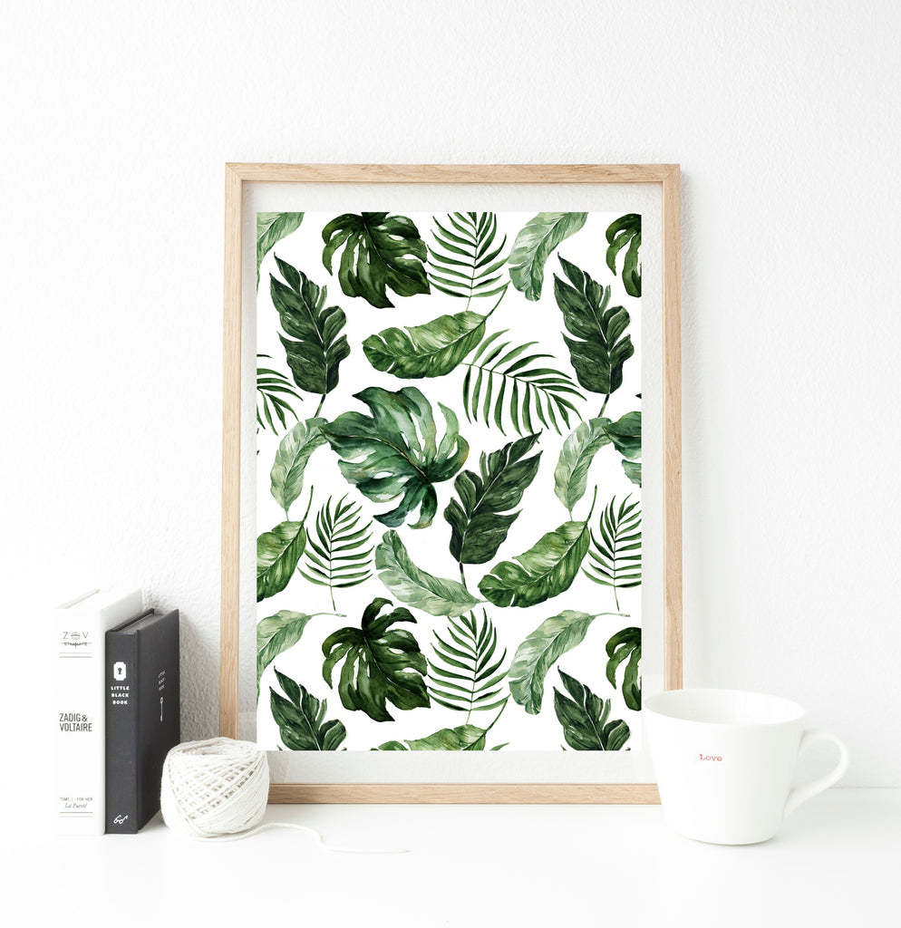 All over heavy leaf print