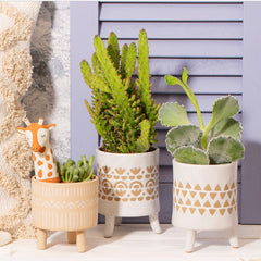 Alba Ceramic diamond planter