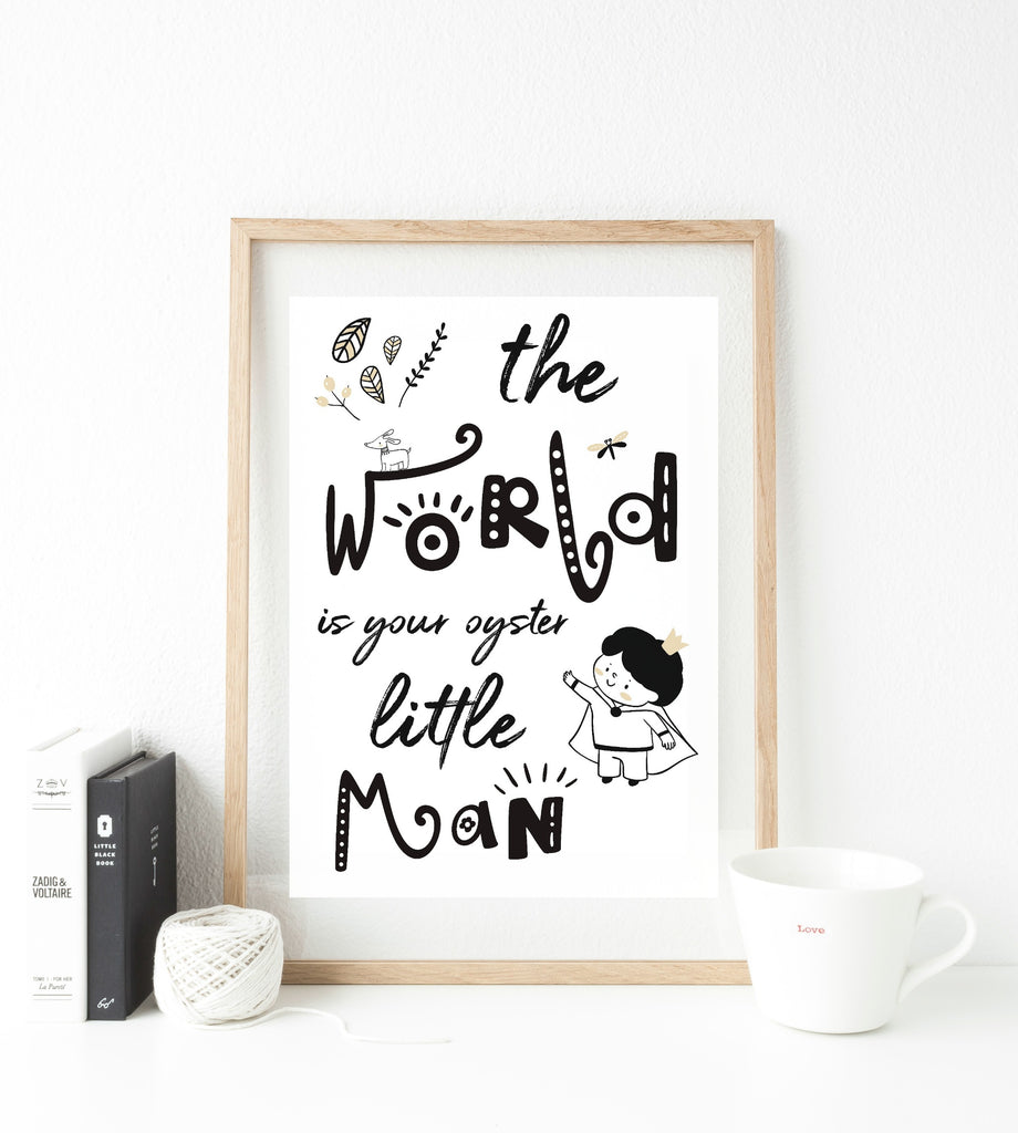 World is your oyster - boy print - whimsical collection