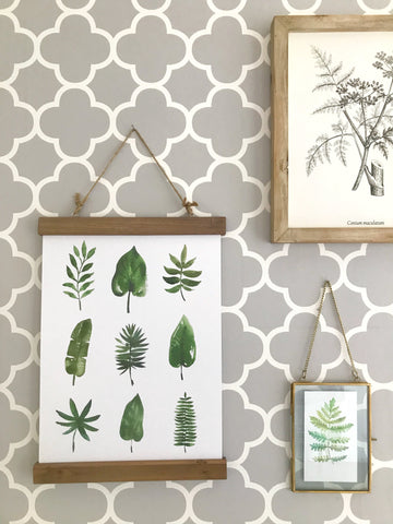 Botanical Beauty - 9 leaf print