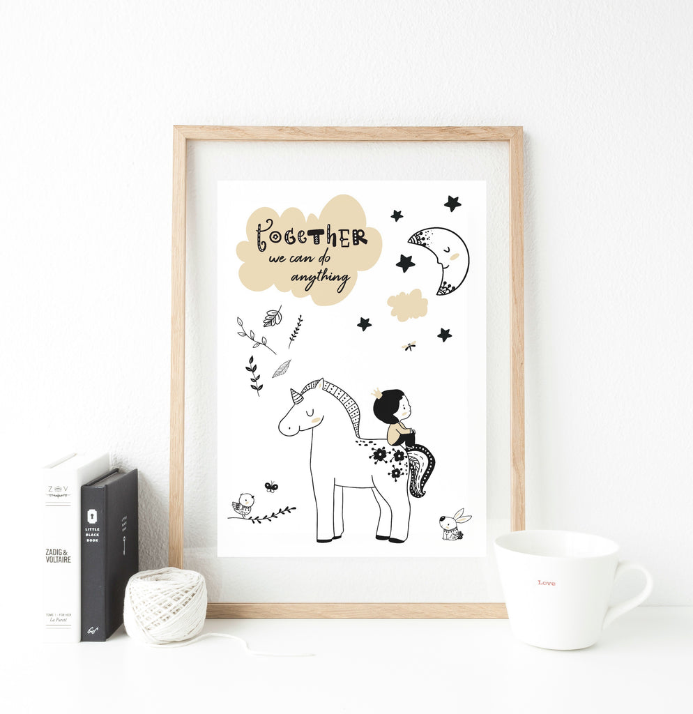 Together we can do anything Print  - whimsical collection