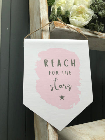 Reach for the stars - Banner Print
