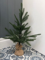 Faux pine table top Christmas tree