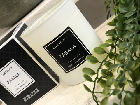 White scented candle - zabala