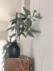 Seeded eucalyptus faux stem