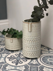 Cecil & Claude ceramic vase or planter