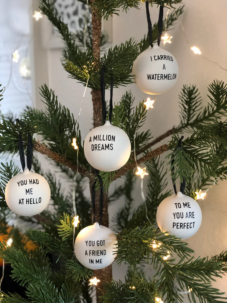 Film or tv quote bauble - choice of quotes