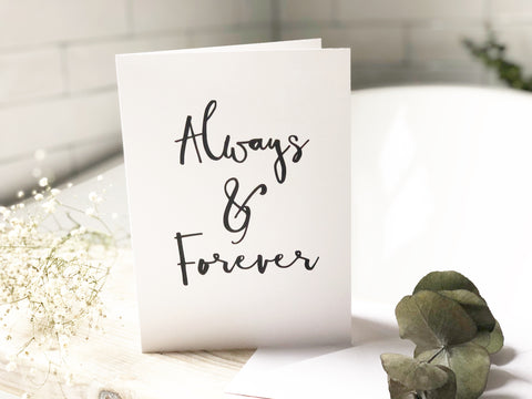 Always & forever A5 print card