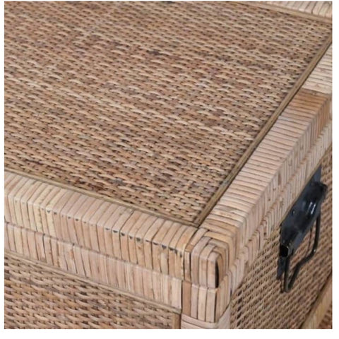 Large rattan chest