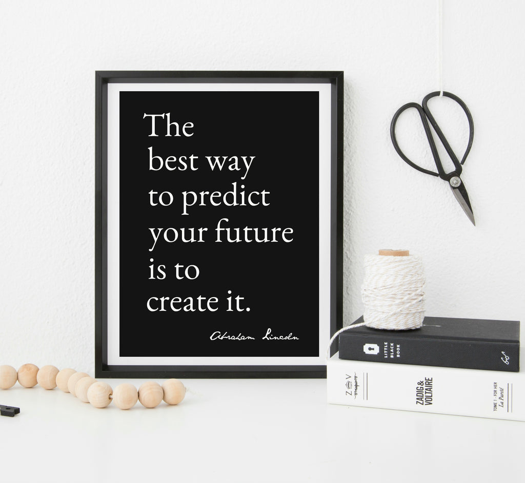 Create Your Future inspirational print