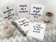 Personalised typography card - Any words!