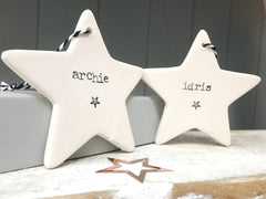 Name Ceramic handstamped star