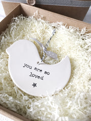personalised ceramic bird