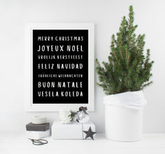Merry Christmas - many languages! Colour choices