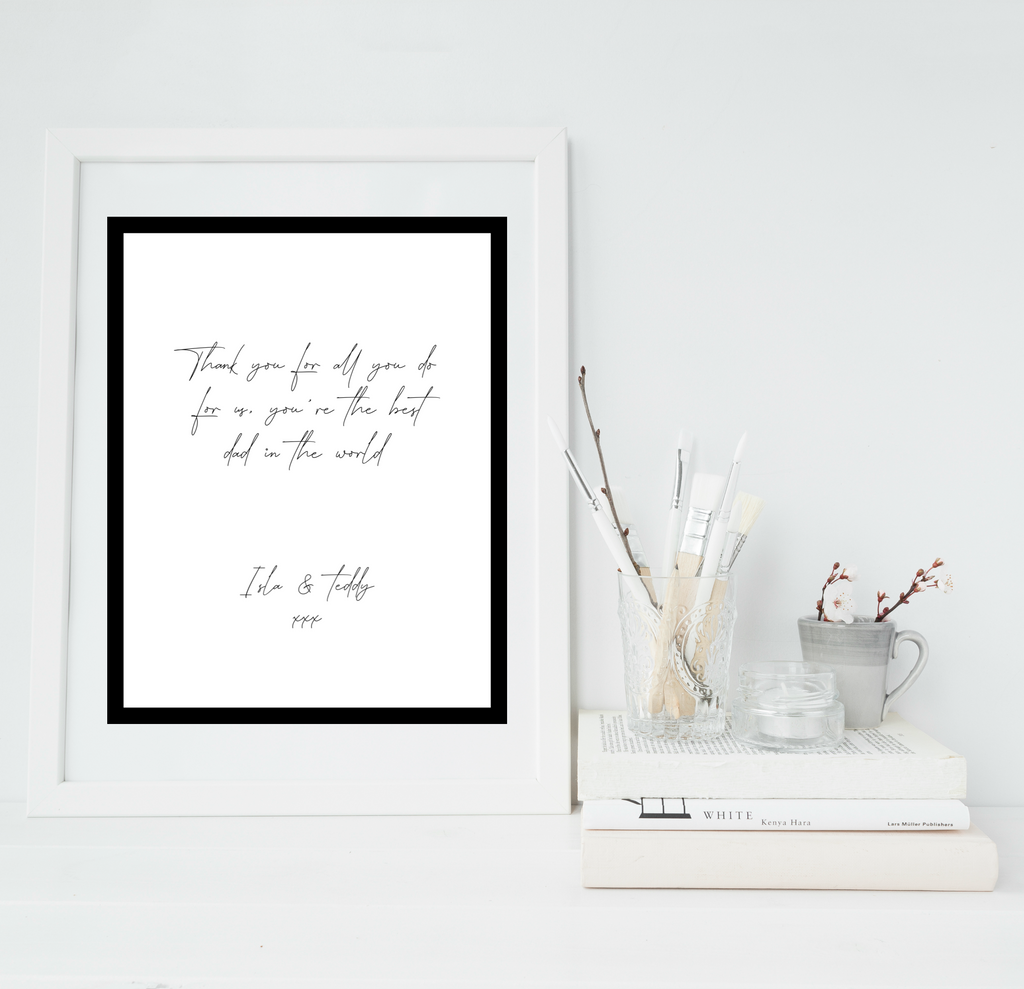 Letter to whoever personalised print