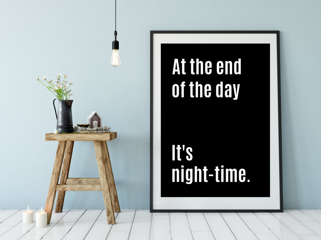 At the end of the day print