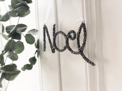 Beaded Noel decoration