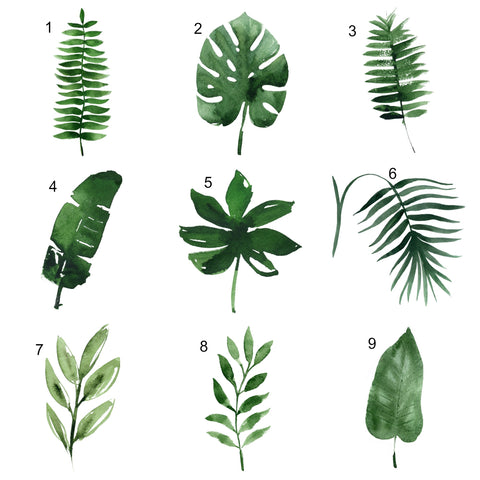Botanical single leaf print - 9 leaf choices