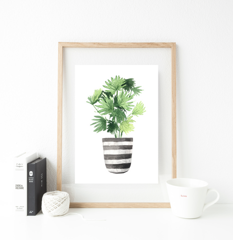 Stripy pot print