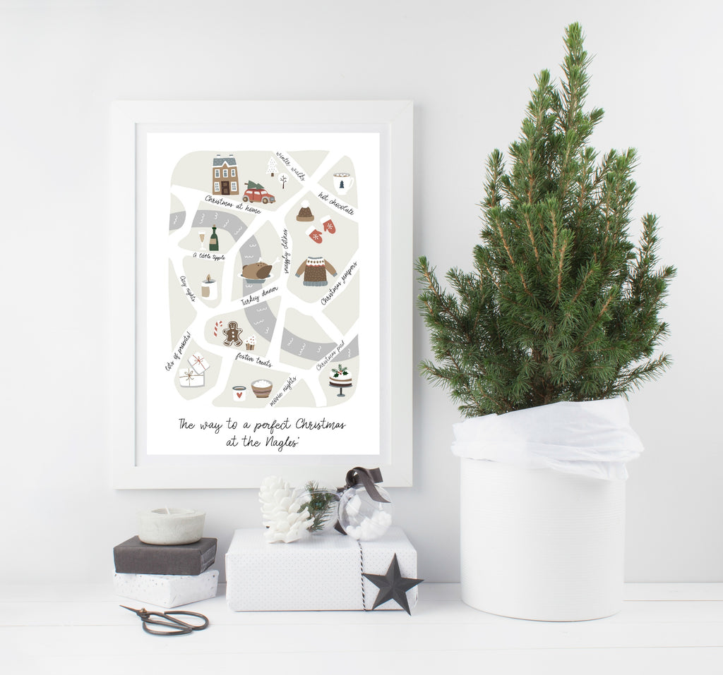 Personalised 'way to Christmas' print