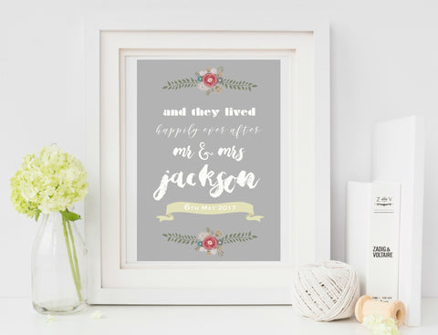 A4 Personalised Wedding Print