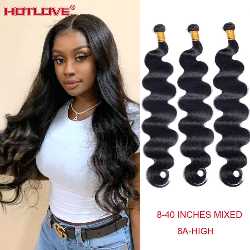 100% Brazilian Body Wave Bundles (Natural Color)