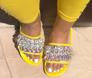 Women Sparkly Slides