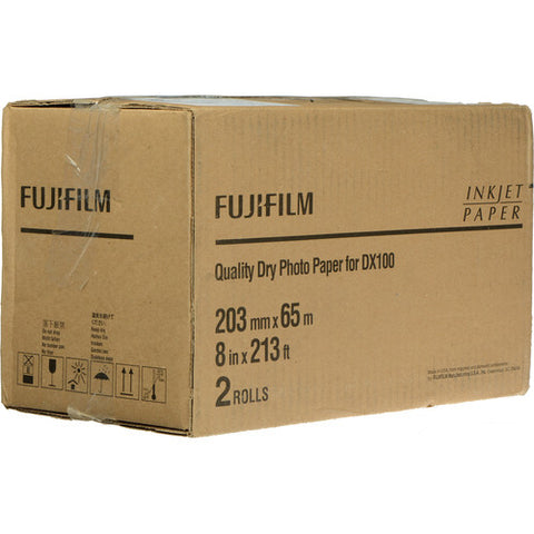 "Fuji DryLab Paper for Frontier-S DX100 Printer (8"" x 213' Roll Glossy, 2-Pack)"