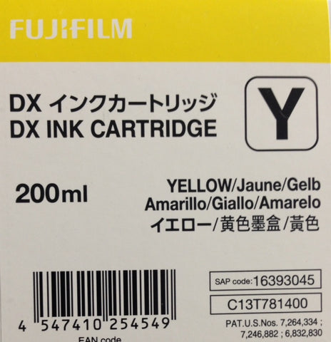 Fuji DX100 - Yellow Ink Cartridge 200 ML