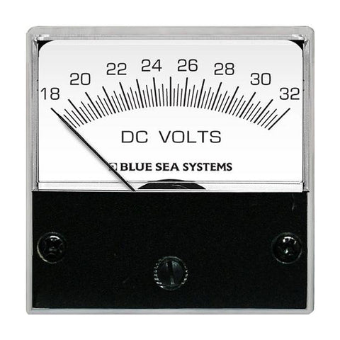 "Blue Sea 8243 DC Analog Micro Voltmeter - 2"" Face, 18-32 Volts DC"