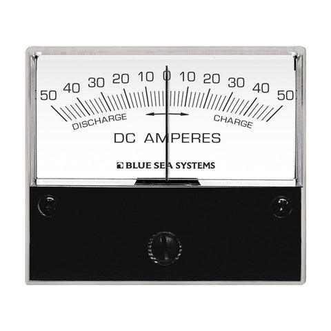 "Blue Sea 8252 DC Zero Center Analog Ammeter - 2-3/4"" Face, 50-0-50 Amperes DC"