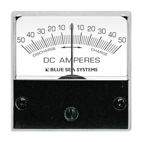 "Blue Sea 8254 DC Zero Center Micro Ammeter - 2"" Face, 50-0-50 Amperes DC"