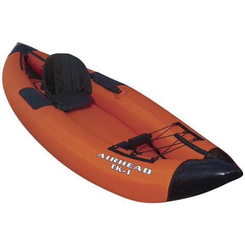 "AIRHEAD Travel Kayak Deluxe 9' 9"" 1 Person Inflatable Kayak"