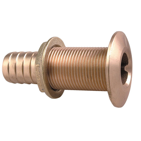 "Perko 1-1/8"" Thru-Hull Fitting f/ Hose Bronze Made in the USA"
