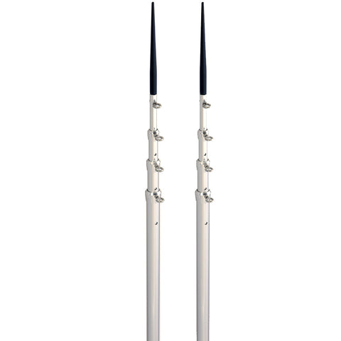 Lee's 16.5' Bright Silver Black Spike Telescopic Poles f/Sidewinder
