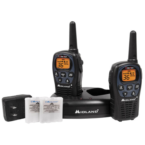 Midland LXT560VP3 36 Channel GMRS Radios - Black
