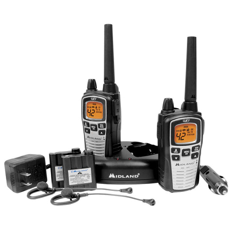 Midland GXT860VP4 42 Channel GMRS Radios - Black