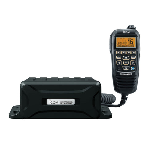 Icom M400BB Black Box VHF Marine Tranceiver w/Black Command Mic