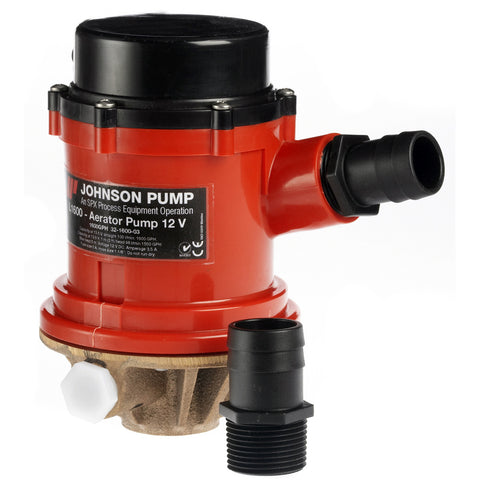 Johnson Pump Pro Series 1600 GPH Tournament Livewell/Baitwell Pump  - 12V