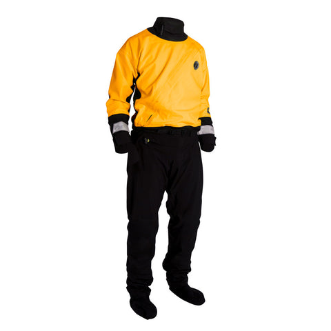Mustang Water Rescue Dry Suit - LG - Yellow/Black
