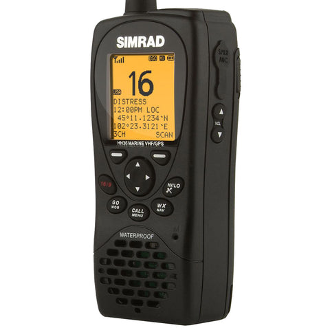 Simrad HH36 VHF Handheld w/Built-in GPS - Class D DSC